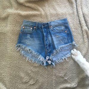 Stunning high rise jean cutoff shorts nasty gal!
